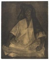 mujer de oaxaca, mujeres con nino en la puerta, and dos mujeres sentadas (3 works) by francisco zúñiga