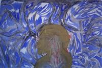 o.t. (ornamentale komposition mit weibl. büste im profil) by wolfgang glöckler