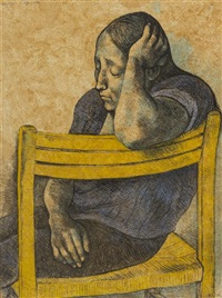 muchacha en una silla, el rebozo and la senal (3 works) by francisco zúñiga