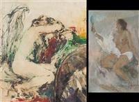 nudo femminile (+ nudo femminile, painting, smllr; 2 works) by arturo figini
