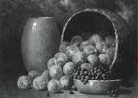 still life of fruit by leonard woodruff