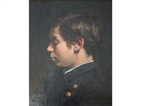 portrait of eugene labat the artists nephew by jean béraud