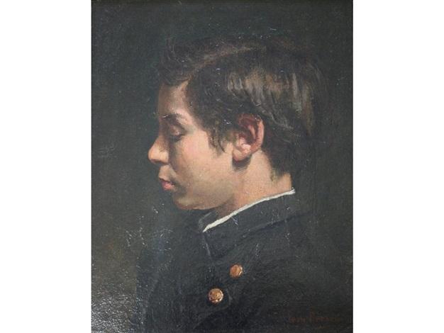 portrait of eugene labat the artists nephew by jean béraud