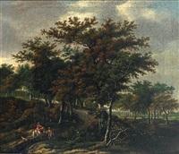 waldlandschaft mit figurenstaffage by adriaen hendricksz. verboom