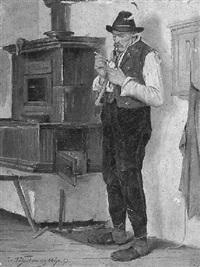 bauer in der stube by joseph aschenbrenner