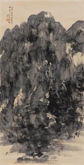 苍山如铁 (landscape) by liu zhibai