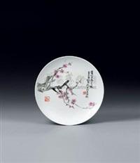 梅花 (porcelain plate) by liu ping
