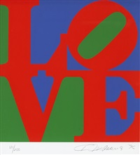 from the book of love (sold with 292b; set of 2) by robert indiana