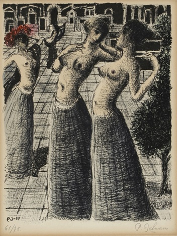 la dance sold with 293b set of 2 by paul delvaux