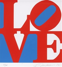 from the book of love (sold with 293b; set of 2) by robert indiana