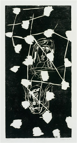 zwei köpfe aus 45 april 45 november by georg baselitz