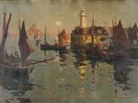 evening at newlyn by r. borlase smart