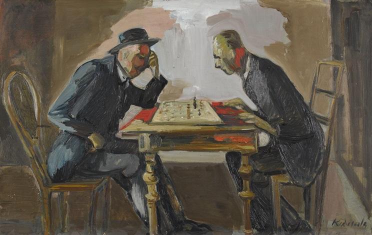 die schachspieler by karl aegerter
