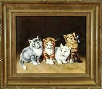 vier katzenkinder by georg rall