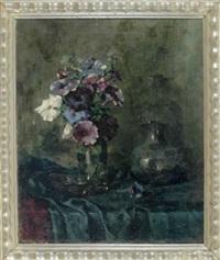 stilleben mit petunien by marie weger-kleinbardt