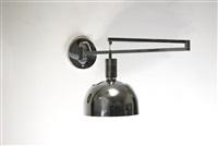lampada da muro regolabile della serie am/as by franca helg, antonio piva and franco albini