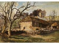 landschaft mit einem englischen gehöft bei waddesdon manor by oliver hall