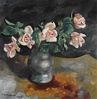 stillleben mit rosen by charles auguste humbert