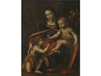 the virgin and child with the infant st. john the baptist by bernardino luini