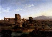 römische landschaft mit tempelruinen by hans salomon ziegler