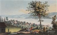 prospect von rüschlikon am zürichsee n.d. natur, no. 7 by johann jakob aschmann