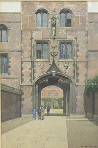 gate of honor, caius college, cambridge (+ gate at jesus college, oxford; pair) by william dacres adams