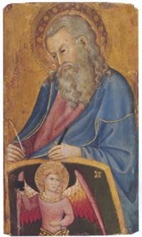 der evangelist matthäus mit engel by andrea di bartolo