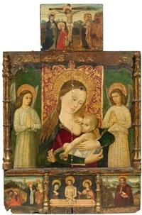 altar zur privaten andacht mit madonna lactans flankiert von zwei betenden engeln (altar piece) by anonymous-italian (15)