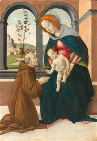 maria mit kind und dem heiligen giovanni gualberto by sandro botticelli