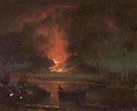 ausbruch des vesuv bei nacht im jahre 1858 by giovanni seritelli