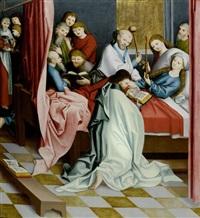 tod mariens und drei heilige in ganzer figur - heiliger sylvester, heiliger hieronymus und heiliger martin (double-sided) by anonymous-german (15)