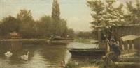 punting along the river by edward j. humphrey
