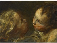 a study of two cherubs by luca cambiaso