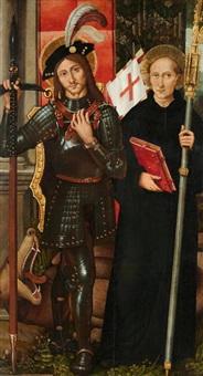 heiliger georg und heiliger maurus by fernando de llanos