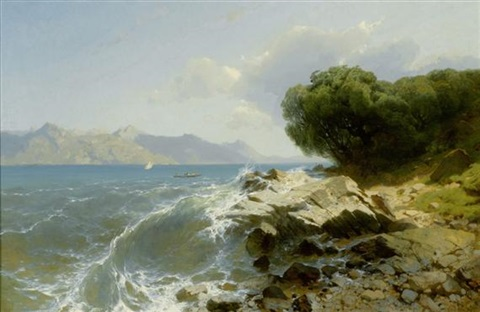 lac suisse marine by alexandre calame