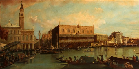 the piazzetta and the palazzo ducale from the bacino di san marco by francesco guardi
