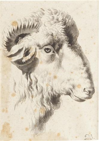 a head of a ram by jean-jacques de boissieu