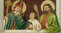 hl. christophorus mit christuskind und laurentius, hl. martin mit bettler und judas thaddäus (2 works) by bernhard strigel