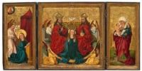 krönung mariä - hl. bernhard von clairvaux - hl. agnes - verkündigung - anna selbdritt (altar piece) by anonymous-swiss (16)