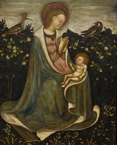 madonna mit kind im rosengarten by michelino de molinari da besozzo