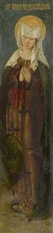 heilige afra auf dem scheiterhaufen, maria aegyptiaca (2 parts of a triptych) by anonymous-german (15)