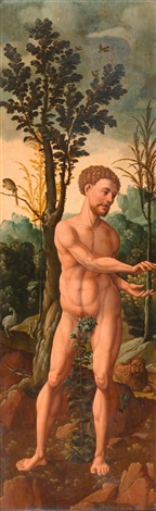 adam amp eva stifterehepaar mit ihren kindern 2 dbl sided altar wings by jan van scorel