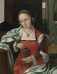 maria magdalena mit salbgefäss in einem interieur by flemish school-bruges (16)