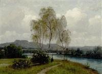 landschaft am wasser by adolf (johann) staebli