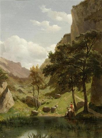 tal in den bergen by alexandre calame