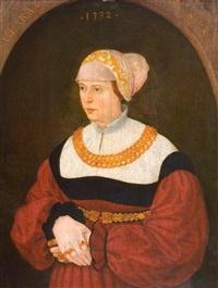 portrait der clara burckhardt im alter von 30 jahren by conrad (von creuznach) faber