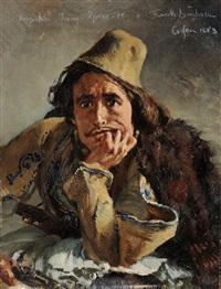 portrait eines jungen mannes auf korfu by frank buchser