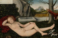 schlafende diana by lucas cranach the younger
