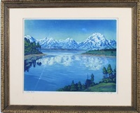 teton mountains by f. leslie thompson