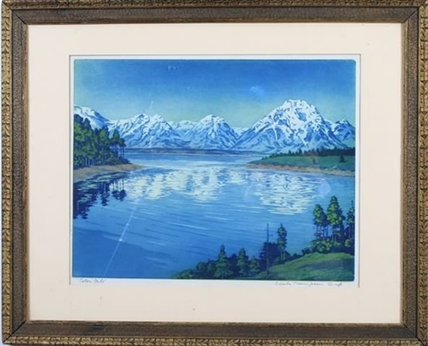 teton mountains by f leslie thompson